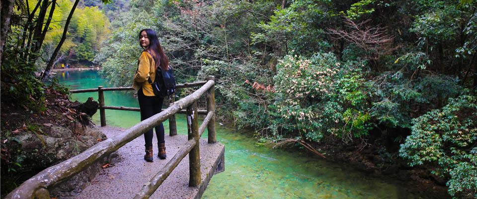 武义牛头山森林公园(牛角山庄/神牛谷漂流)