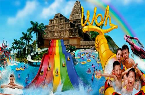 古代玛雅文明与现代水上游乐设施交相辉映,全新规划六大亲水娱乐项目